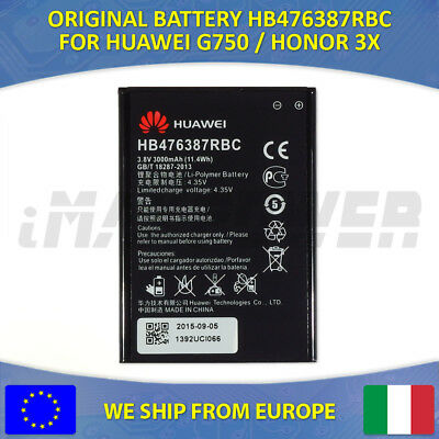 BATTERIA BATTERY ORIGINALE HB476387RBC HUAWEI ASCEND G750 HONOR 3X 3000 mAh