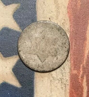 1851-1853 Type 1 3C Three Cent Silver Piece Vintage US Coin #LX93
