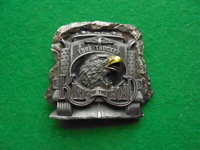 Lone Trucker KING OF THE ROAD.Belt Buckle 1990.DRAGON DESIGNS TANSIDE ENGLAND.