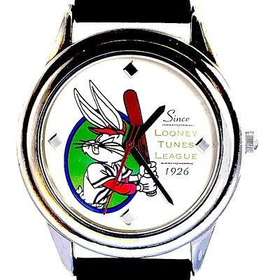 Bugs Bunny In Baseball Attire White Dial Fossil Warner Bros New Unworn Watch $65