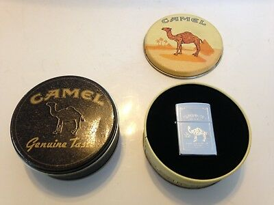Zippo Camel Filters Turkish & Domestic Blend Cigarettes Lighter With 2 Tins