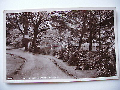 On the Ness Islands, Inverness - vintage sepia real photograph
