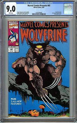 Marvel Comics Presents #85 CGC 9.0 VF/NM WOLVERINE Sam Keith Cover Holiday Gift
