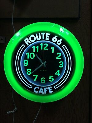 Retro Route 66 Art-deco  Wall Clock Unique and Original