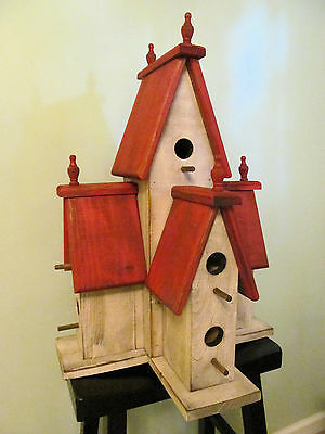 Large Manor Birdhouse RED, 310 2016