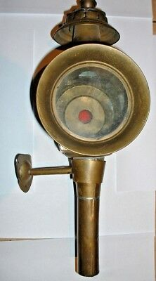 Antique Brass Carriage Lamp in Good Condition