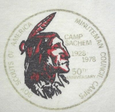 Camp Sachem scout shirt, 1978, BSA, Boston Minuteman, 50th Anniversary vintage