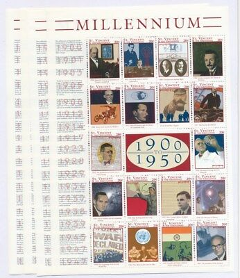 [F78026] St. Vincent & The Grenadines 2000 4x good sheet Very Fine MNH