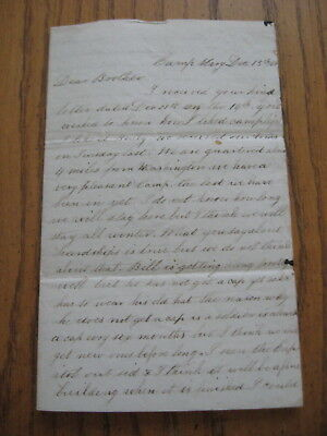 93rd Pa. Vol Infantry Civil War Soldier Letter Private Alfred Reynolds KIA, 1862
