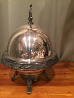 Meriden Silver Quad Plate Aesthetic Movement Butter Dome & Metal Insert