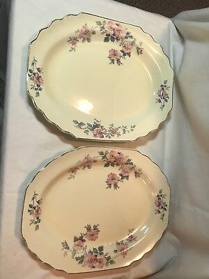 PINK BLOSSOMS LIDO CANARYTONE MEAT PLATTER W S George