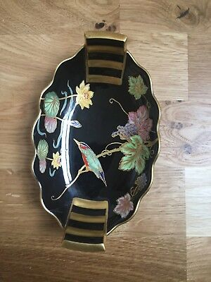 Vintage Carlton Ware dish with gold trim and oriental decoration