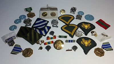 Lot Of Military Medals And Patches *Missile* *Riffle* *Grenade* Eagle Bars Pins