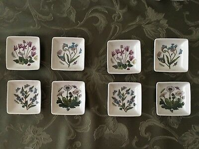Portmeirion Botanic Garden Dipper Dishes: 2 Sets Of 4 New In Boxes