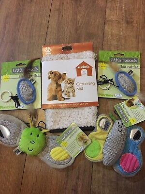 Job Lot Of Kitten Puppy Toys & Grooming Mit  Brand New Shop Clearance Rrp £34.97