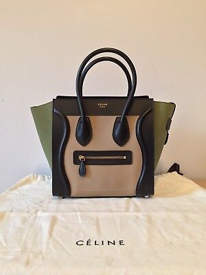 f8dd4bf00a CELINE PHOEBE PHILO Luggage Tote Small beige python black leather ...