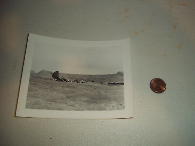 Wwii Ww2 German Crashed Captured Bomber Fighter Photograph