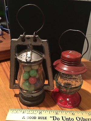 To Vintage Glass Candy Containers Lanterns Very Nice