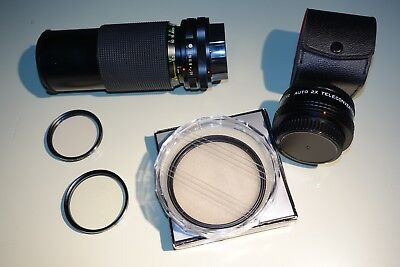 Lot Of 5 Assorted Vintage Camera Lenses and Filters, ZYKKOR, IZUMAR, VIVITAR