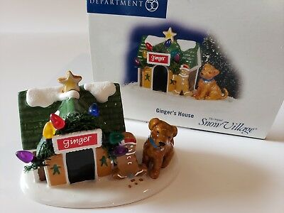 Dept 56 Snow Village ~ Ginger's House ~ Mint In Box 799966