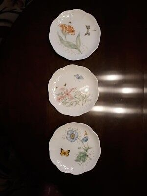 Lenox Butterfly Meadow Accent Luncheon Plates, Dragonfly, Monarch, Swallowtail