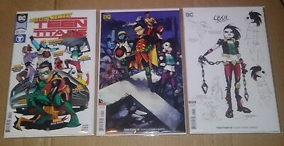 Teen titans 20 variant 1:25 covers A B 1st appearance CRUSH LOBO DAUGHTER CGC IT