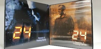 LOT of 2 24 Trading Card Album Binder Season 4 and 5 with Promos