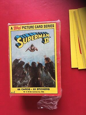 1980 Topps Superman 2 Trading Cards/stickers
