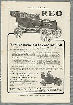 1906 REO advertisement, Touring Car & Runabout, from 1906 magazine