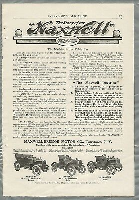 1906 MAXWELL advertisement, Model H, L Speedster, from 1906 magazine