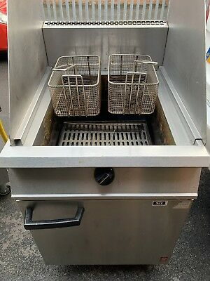 Falcon Dominator Gas Fryer G2860 Commercial Twin Basket