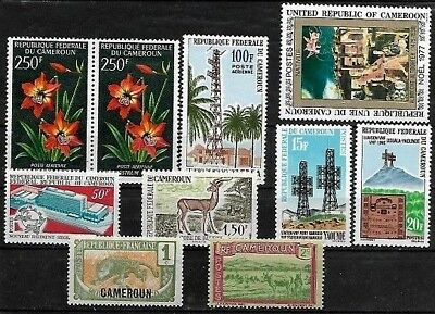 Cameroun..selection Of 10 Stamps In Great Condition..8 Are Un-Mounted Mint..