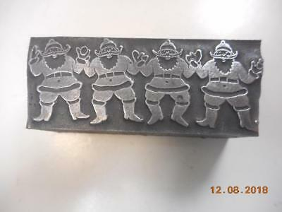Printing Letterpress Printer Block, Decorative Santa Claus Border, Printer Cut