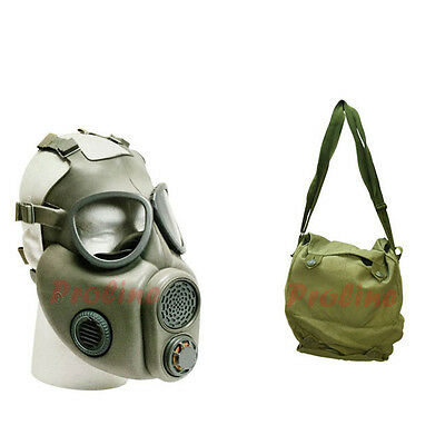 Czech Unissued M10 Gas Mask With Filters and OD Carrying Bag Czechoslovakia Mask