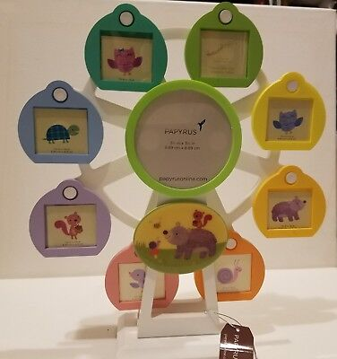 Papyrus Musical Lullaby Ferris Wheel Picture Frame Holds 8 Pictures UNUSED