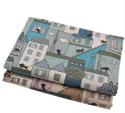 Printed Cotton Linen Fabric For Patchwork Quilting Sewing DIY Sofa Table Cloth