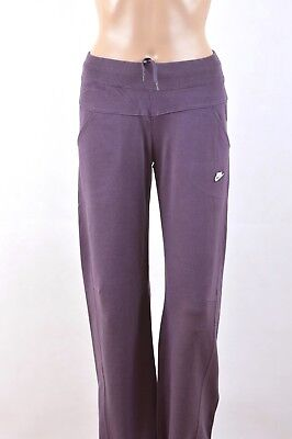 NIKE TRACKSUIT PANTS Bottoms TRousers Purple Cotton Girls 12 13 Yrs Ladies S FAB
