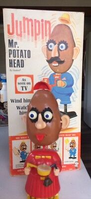 Vintage Jumpin' Mrs POTATO HEAD in box  wind up toy