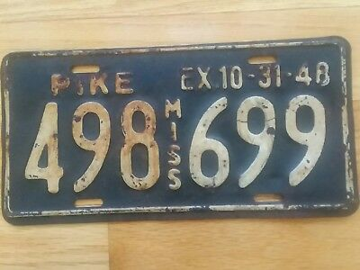 1948 Mississippi License Plate