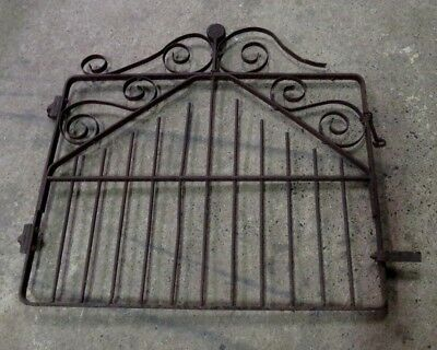 ANTIQUE WROUGHT IRON  LOLLIPOP GATE  ARCHITECTURAL GARDEN  Boyer & Radford