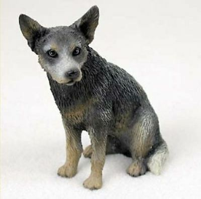 AUSTRALIAN CATTLE DOG BLUE Figurine Statue Hand Painted Resin Gift Pet Lovers
