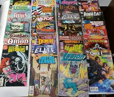 Lot of 54 DC Comics 80's 90's 2000's Justice League Captain Atom Legion MIXED!