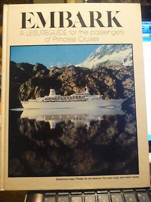 REAR Princess Cruises Original Love Boat Book (EMBARK) A Passengers Guide 1982