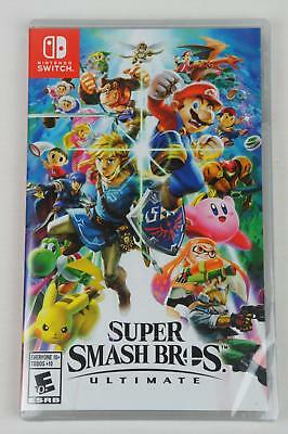 BRAND NEW SUPER SMASH BROS. ULTIMATE (Nintendo Switch, 2018)  FACTORY SEALED