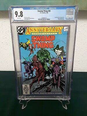 Swamp Thing #50 Cgc 9.8  White Pages!  1St Justice League Dark!