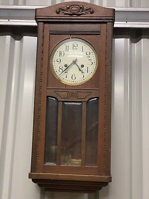 Antique Wall Clock Early 1900's