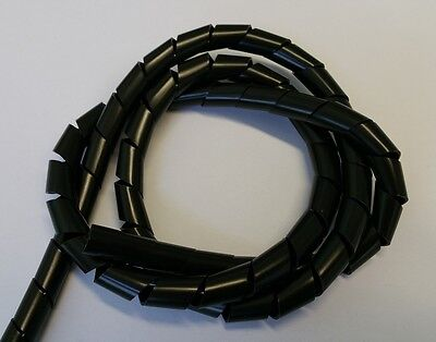5m/10m Spiral Tube Natural or Black, in Different Sizes
