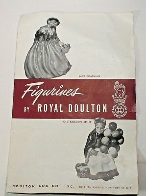 Rare Early Vintage Figurines Collection By Royal Doulton Pamphlet