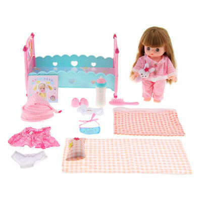 Kids Child Playhouse Play Mummy Baby Girl Cradle Bed Make Up Set Role Play