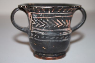 ANCIENT GREEK XENON POTTERY CRATER WINE CUP 4th Century BC